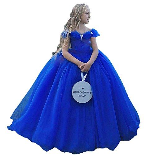 CoCogirls Aschenputtel Mädchen Festzug Kleider Königsblau Baby Kleinkind Geburtstag Party Formal Kleid Ballkleider Pompöse Kommunion Kleider (königsblau, ca.Alter3)
