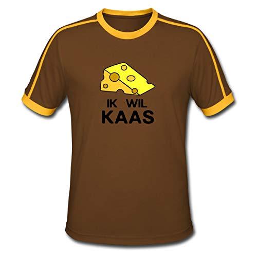 Spreadshirt Ik Wil Kaas Mannen retro-T-shirt