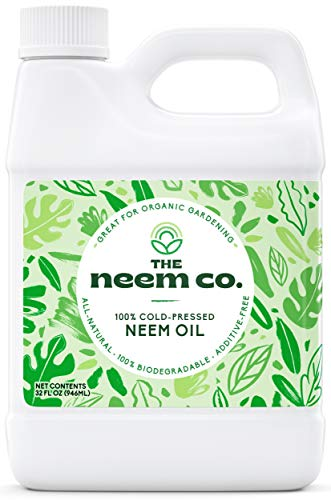 Neem Oil, 100% Organic & Pure (32 oz) - Cold Pressed Neem Seed Oil with High Azadirachtin Content