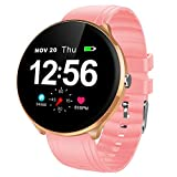 HBRT Lady Herzfrequenz-Messung Smart Watch, wasserdicht Touch-Screen-Sport-Armband Wettervorhersage Schlafüberwachung