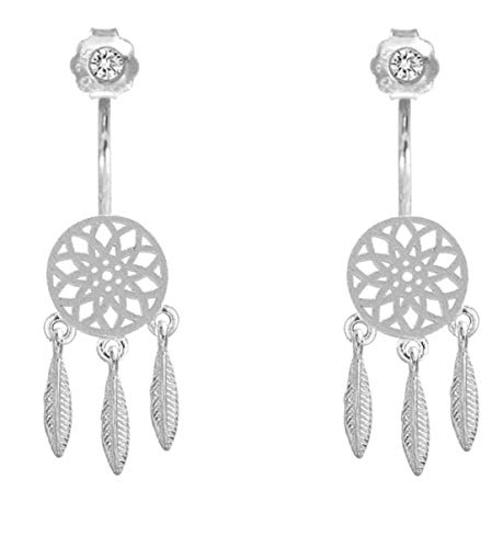 iszie jewellery sterling silver dream catcher drop earrings, dream catcher jackets earrings,dream catcher earrings