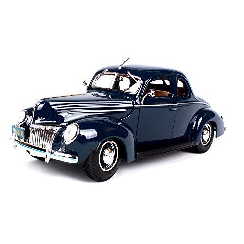 LUCKYCAR 1939-Ford Oldtimersimulationslegierungsautomodell, originales Modellauto, Motorhaube und Haustür können geöffnet Werden, Verhältnis 1:18, Blau