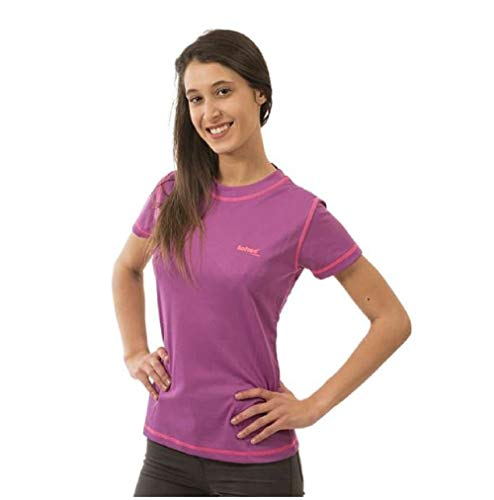 Softee Technics Colors Dry T-Shirt Femme Violet/Rose Fluo Taille XXL