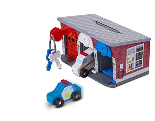 Melissa And Doug | Garage mit Schlüsseln und Rettungsfahrzeugen | Holzspielzeug & Züge | 3+ years