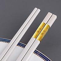 10ペアグラスファイバー箸、中国箸再利用可能な合金箸、滑り止め品質の寿司箸-食器洗い機で安全-白い