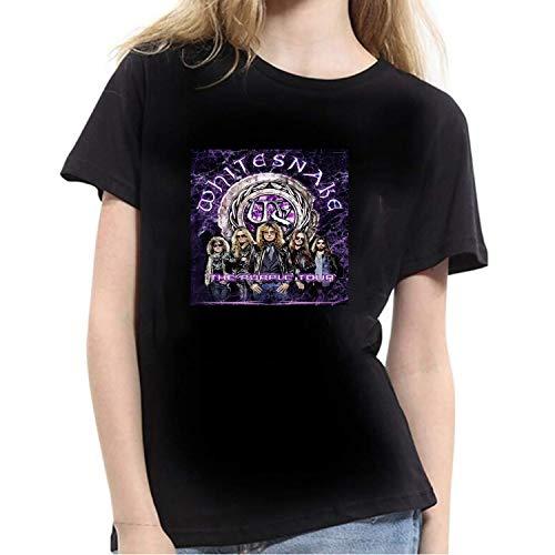 ZOMMING tee Whitesnake The Purple Tour Mujer Camiseta Negro/Mujer T Shirts Negro