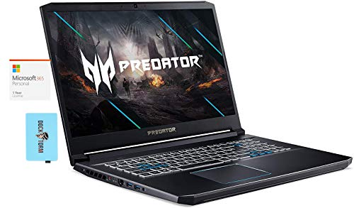 Acer Predator Helios 300 Laptop (Intel i7-10750H 6-Core, 64GB RAM, 7.6TB SATA SSD, RTX 2060, 17.3' Full HD (1920x1080), WiFi, Bluetooth, Webcam, Win 10 Pro) with MS 365 Personal, Hub
