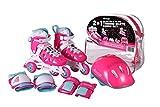 CHICAGO Skates Girls Inline Training Skate Combo Set - Pink/Purple - Medium Sizes 1-4