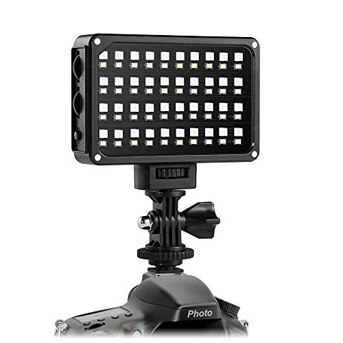 LED Camera Light,GVM RGB 7s Dimmable Ultra LED Light on Panel Digital Camera/SLR Camera /Camcorder Video Light with Built-in Battery,Charger,High Brightness,Multi-color and White Magnet Filters