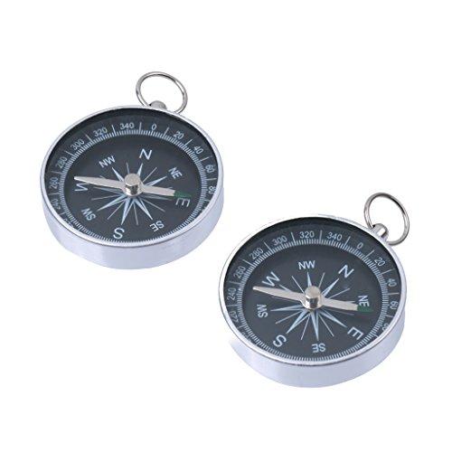 Aluminium Outdoor-Camping-Wander-Navigation Kompass Mit Schlüsselanhänger...