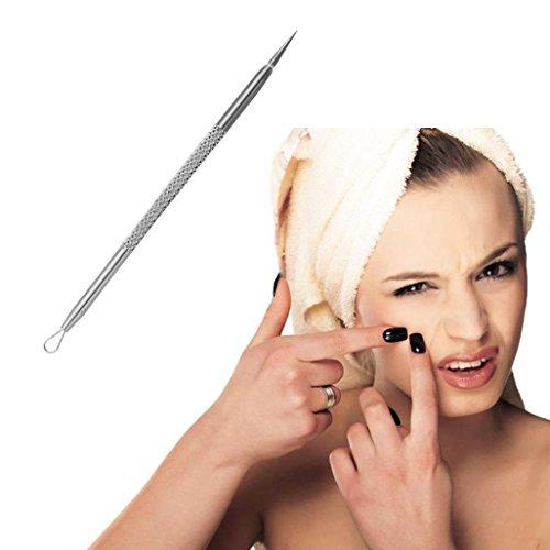 Kolylong 1Pc Inoxydable Point noir Acné du visage Pimple de tache Dissolvant Ensemble d'outils d'extraction (C)