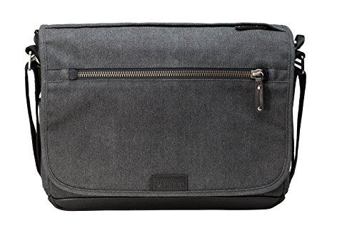 Tenba TENBA Cooper 13 Slim Camera Bag - Grey Canvas - Black Leather