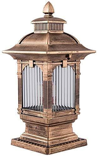 GJFDCP Lámpara de paisaje de decoración de villa de jardín retro creativa de estilo europeo, cuadrado simple, lámpara de cabeza de columna resistente al agua y antioxidante, lámpara de cabeza única de
