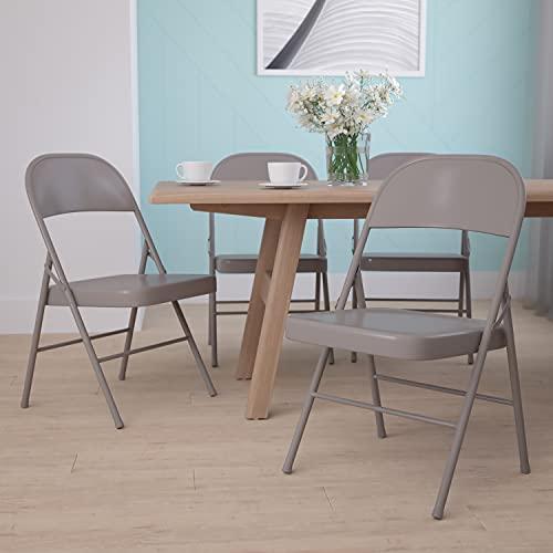Flash Furniture Beige Folding Chair Sillas Plegables de...