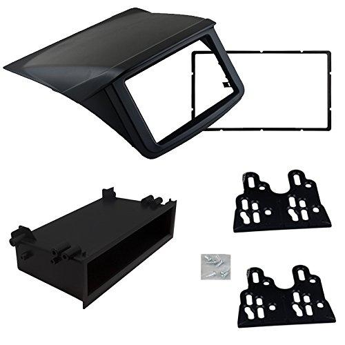 FEELDO Kit de montage pour panneau stéréo 2 DIN avec passe-partout 1 DIN