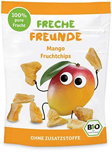 FRECHE FREUNDE Bio Fruchtchips Mango, gefriergetrocknete Früchte für unterwegs, 14 g