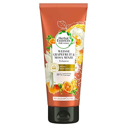 Herbal Essences PURE:renew Weiße Grapefruit & Mosa Minze Volumen Pflegespülung, Conditioner, Haarpflege, Conditioner Volumen, Minze, Grapefruit Conditioner, Haarpflege Volumen, 200ml