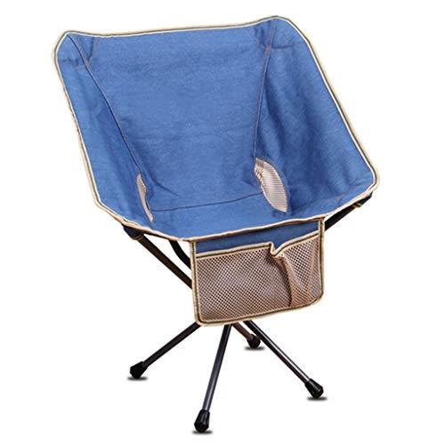 LWLEI Ultraleichte Klappbare Campingstühle Tragbarer Strand-Angelstuhl Outdoor Garden Moon Chair Mit Aufbewahrungstasche klapphocker (Farbe : Blau)