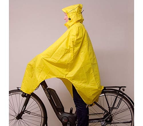 Lowland Outdoor Poncho Bicicletta │100% Impermeabile (7000mm) (Giallo)