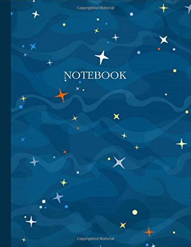 Notebook-lined Notebook Journal: Lined Journal Paperback-blue Ocean Watercolor-notebook For A Marble School-office Supplies