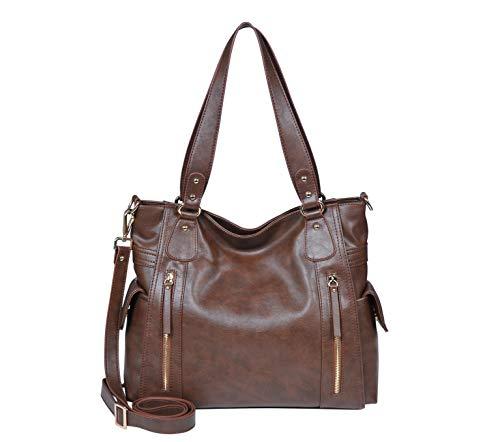 SILVIO TOSSI Damen Lederhandtasche Schultertasche Antik Braun Modell 13163-02