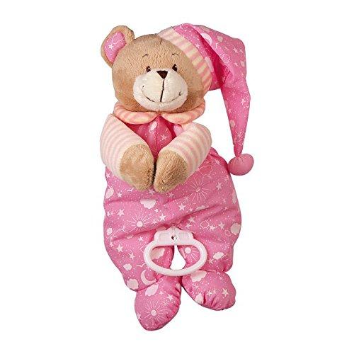 """Spieluhr """"Nele"""" zum Kuscheln und Einschlafen, der musikalische Teddy ist besonders weich und flauschig, als Einschlafhilfe oder Spielzeug, zum Aufhängen am Bettchen oder Kinderwagen"""