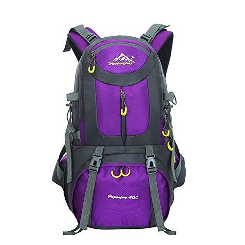 N / A Wasserdichter Rucksack 40L Leicht, Erwachsene Wanderrucksack Manner Frauen Outdoorrucksack für Klettern Camping Reiten Reisen Freizeit