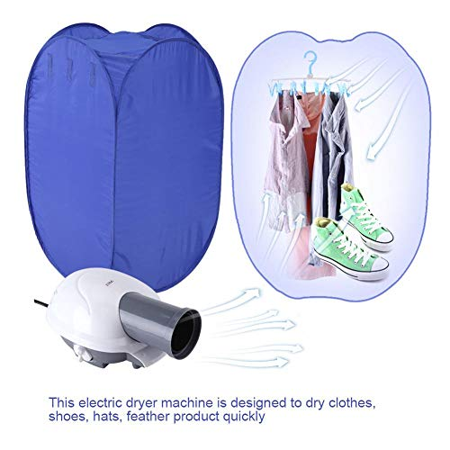 GOTOTOP Clothes Dryer,Portable Electric Air Clothes Dryer Bag Folding Fast Drying Machine with Heater 110V US Plug