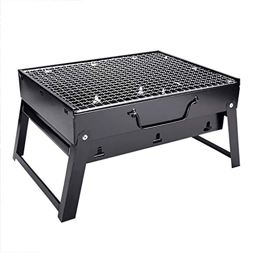 Fewear Barbecue Charcoal Grill Stainless Steel Folding Portable BBQ Tool for Outdoor Cooking Camping Hiking Picnics Tailgating Backpacking or Any Outdoor Event (B)