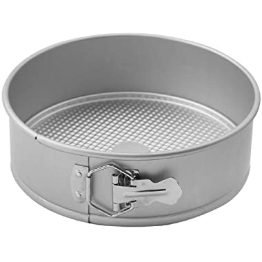 WINCO AASP-093 Springform Pan with Detachable Bottom, 9-Inch, Anodized Aluminum