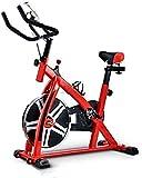 ZCYXQR Bicicleta de Ejercicio Profesional para Interiores con Volante de 8 kg, Soporte Acolchado para Brazos, Asiento cómodo para Gimnasio en casa, Entrenamiento Cardiovascular (Deporte Interior)