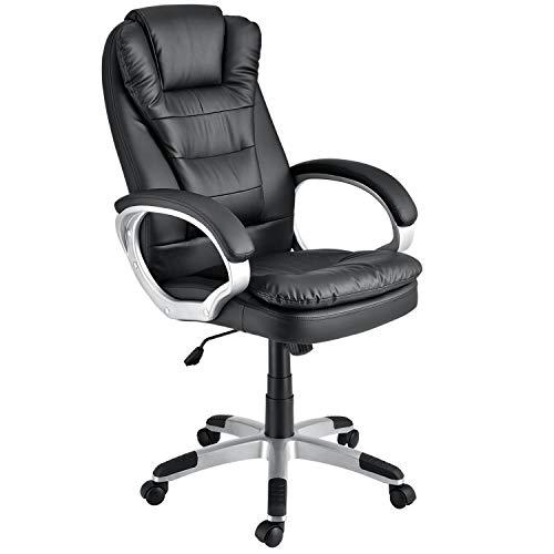 ArtLife Bürostuhl Orlando ergonomisch - Schreibtischstuhl höhenverstellbar mit Armlehnen, Wippfunktion & Polsterung, Drehstuhl bis 120 kg - schwarz