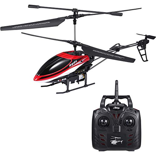 GoolRC YD615 RC Helicopter with Gyro and LED Light, 3.5 Channels 2.4Ghz Remote Control Helicopter with 16min Flying Time, RTF Durable Aircraft for Kids and Beginners Indoor Outdoor to Fly (Red)
