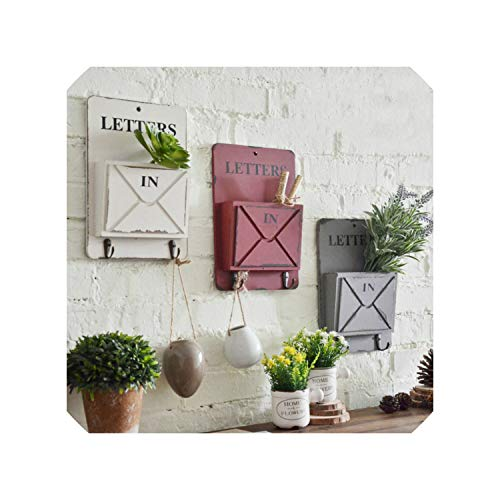 Metro Wooden Wall Hanger for Decoration Key Letters Orangizer Iron Hanger Display Rack Hook Hanger Stacking Home Decoration,Red