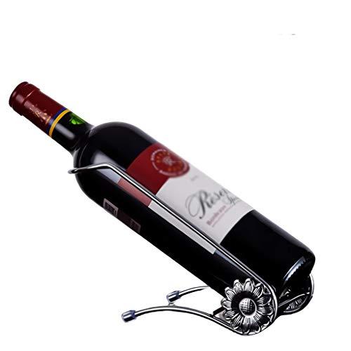 ZZTWER Creativo Vino portabottiglie Singolo PortaBottigliedaVino, Governo del Vino Basamento del controsoffitto Desktop Display Rack for casa e Ufficio Organizzazione della conservazione del Vino