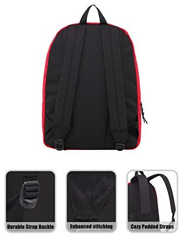 41iaayGjEAL - Hotstyle SIMPLAY Mochila Escolar Clásico, 44x30x12,5cm, Rojo, con Estuche