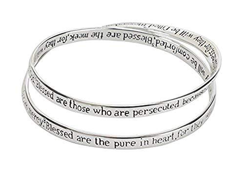 Cross Double Mobius Bracelet - The Beatitudes Matthew 5:3-10