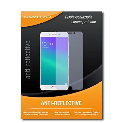 SWIDO Schutzfolie für Oppo F1 Plus [2 Stück] Anti-Reflex MATT Entspiegelnd, Hoher Festigkeitgrad, Schutz vor Kratzer/Bildschirmschutz, Bildschirmschutzfolie, Panzerglas-Folie