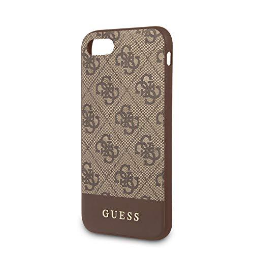 Guess - Carcasa para iPhone SE 2020 y 8, diseño de círculos, Color marrón