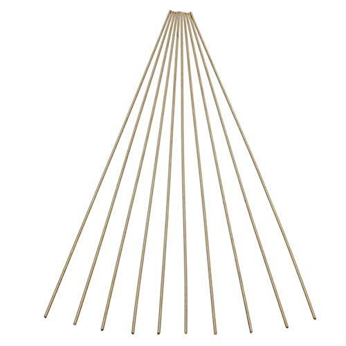 Zent 10 Stück Messingstangen Drähte Sticks 1,6x250mm Gold zum Reparieren Schweißen Löten Löten Löten