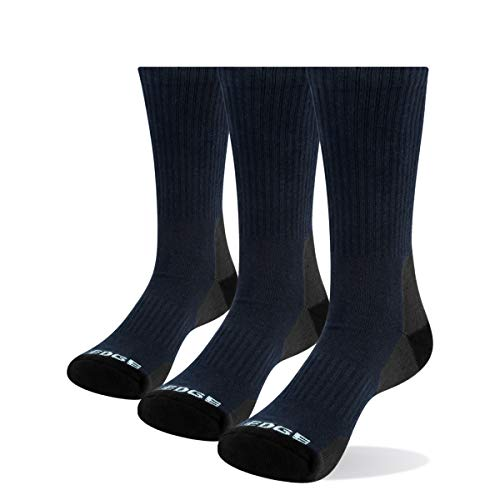 YUEDGE 3 Pares/Pack Calcetines Hombre Deporte Algodon Trabajo Calcetines para Hombres (L)