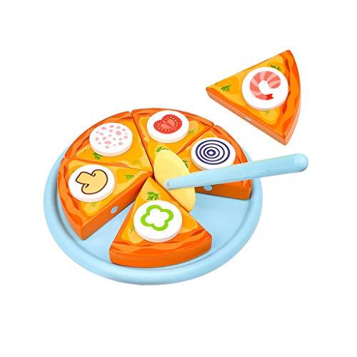 kids toys GCX Juego de Juguete de Cocina, Utensilios de Cocina de Juguete, Accesorios de Cocina De Madera De Corte Magnético De Fruta De Juguete De Los Niños De Cocina Para Cocina Y