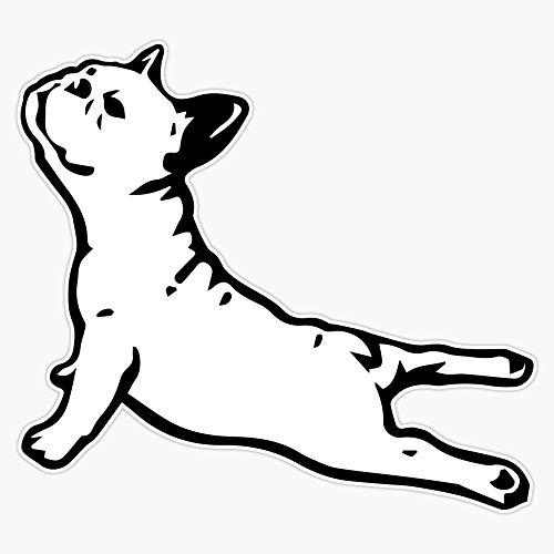 French Bulldog Yoga Sticker Vinyl Bumper Sticker Decal Waterproof 5'