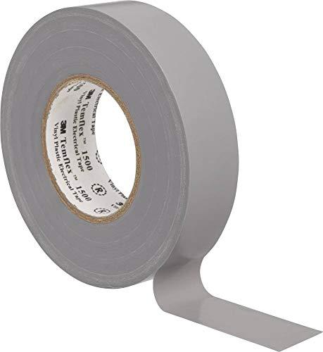 3M TGRA1925 Temflex 1500 Vinyl Elektro-Isolierband, 19 mm x 25 m, 0,15 mm, Grau