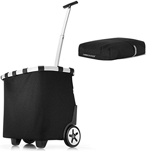 reisenthel - EXKLUSIVES ANGEBOT! carrycruiser + GRATIS cover! Einkaufskorb Einkaufstasche Einkaufstrolley (black)