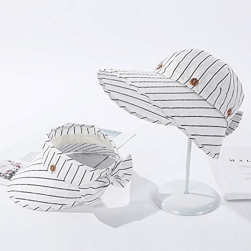 LAYBAY Visiera Cappello Donna Parasole, UV Protezione Solar Donne Cappelli Visiera Cappelli Estivi Protezione Donna Visiera Grande Protezione UV Cappello da Tennis(56-59cm)