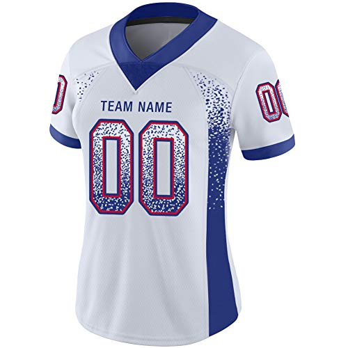 Custom 2 Side Football Jerseys for Women Personalized Stitched and Printed with Team&Number&Name
