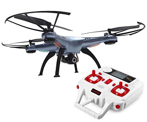 Drone Syma X5hw Quadcopter Recargable Camara Video 0.3 Mpx Wifi + Repuestos Azul