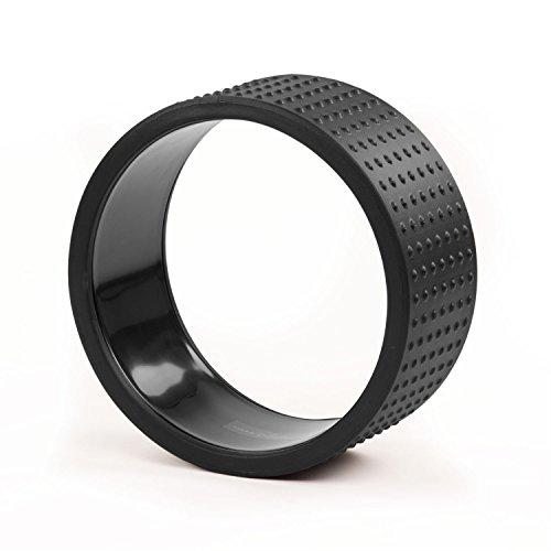 Yoga Wheel SAMSARA Premium, schwarz, 32 x 15 cm, Yoga Rad, Yoga-Zubehör, Yoga Ring, vielseitig einsetzbares Yoga-Hilfsmittel