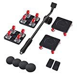 JHCHU Furniture Movers Easy and Safe Furniture Dolly for Heavy Objects ,Heavy Furniture Moving Dolly for Sofas, and Refrigerators Hand Tools(5 Piece Set).